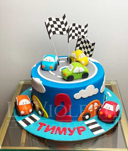 Торт Веселые гонки №1250