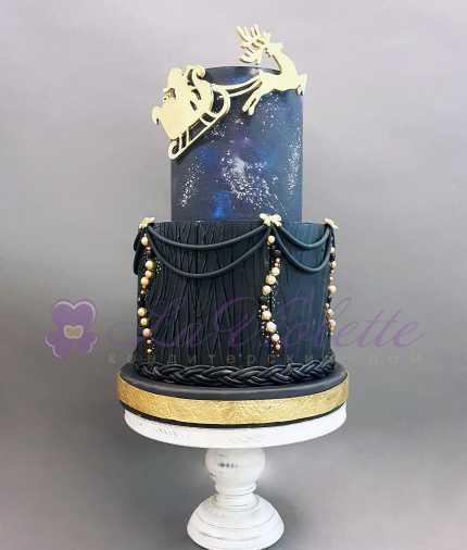 Торт новогодний №834