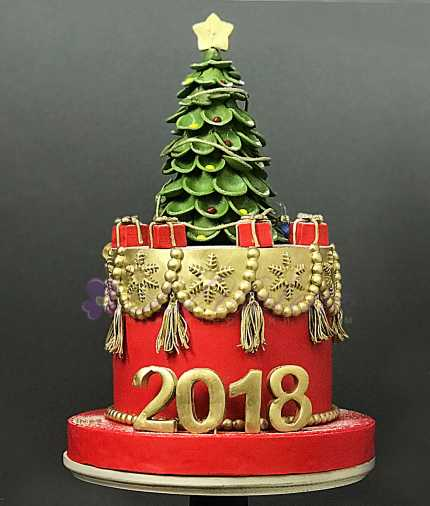Торт новогодняя елка №839