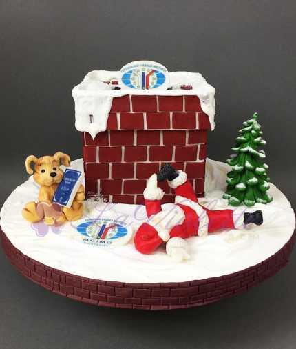 Торт новогодний №843