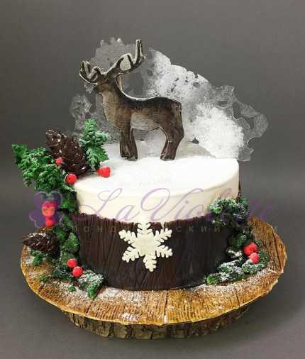 Новогодний торт Олень №844