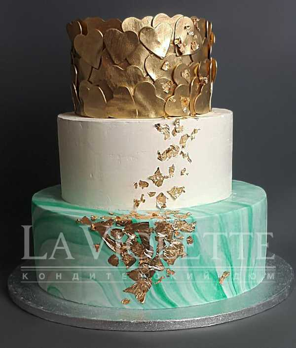 Торт Мрамор с золотом №1201
