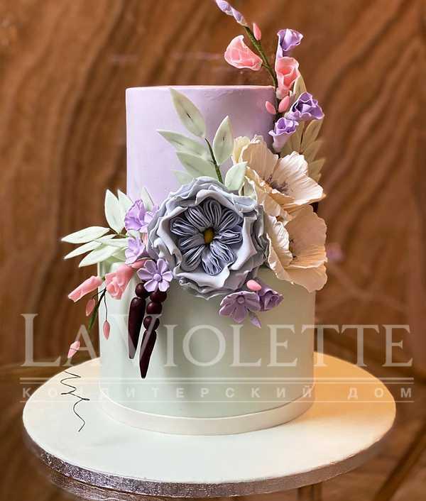 Торт с цветами №1208