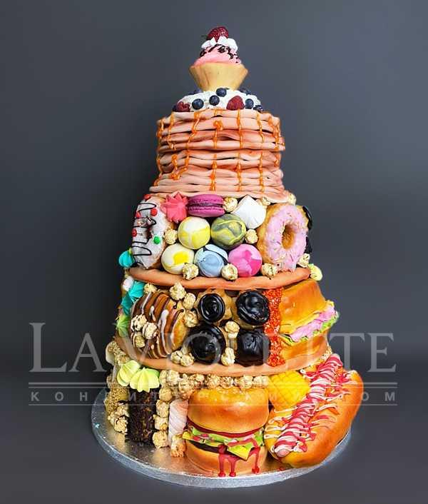 Торт с бургерами №1232