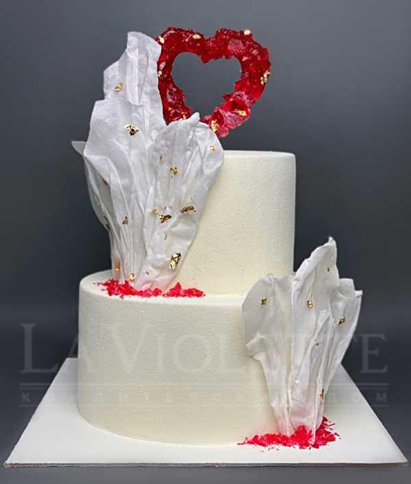 Торт с сердцем №1238