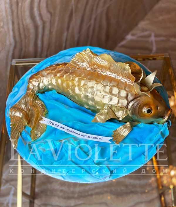 Торт Золотая рыбка №1247