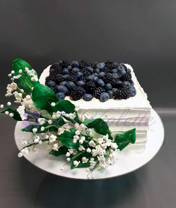Торт с ягодами №928