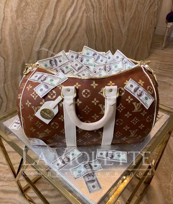 """Торт """"Сумка с деньгами"""" №1004"""
