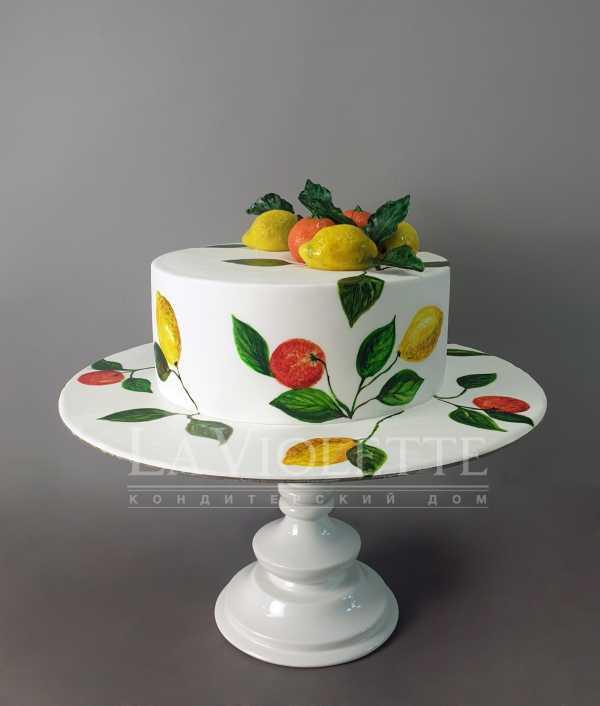 Торт с лимонами №1005