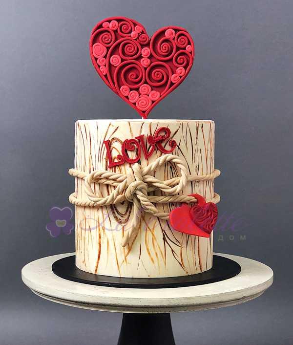 Торт с сердцем №1013