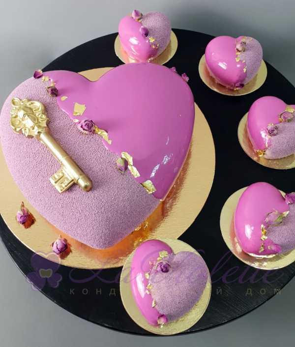 Муссовый торт Сердце №1014