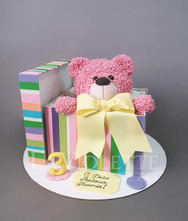 Торт Мишка в коробке №1020