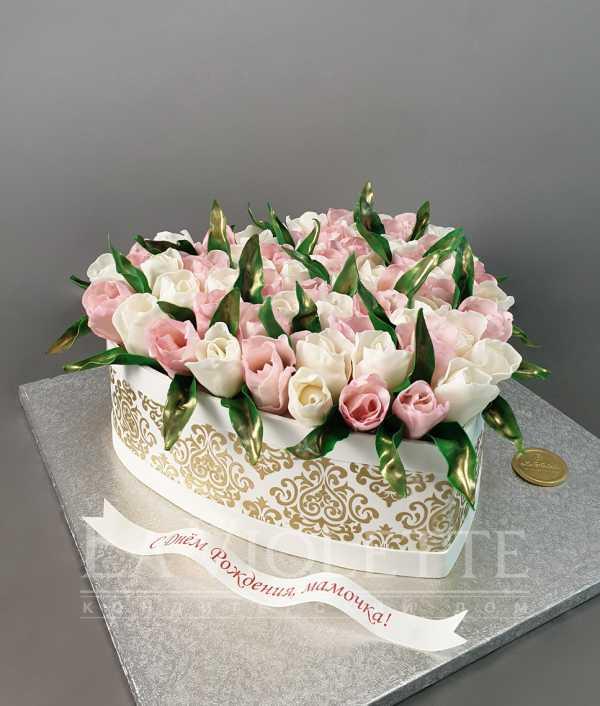 Торт с тюльпанами №1026