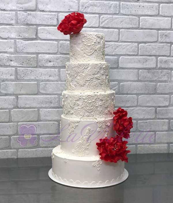 Торт свадебный №1033