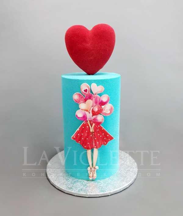 Торт с сердцем №1058