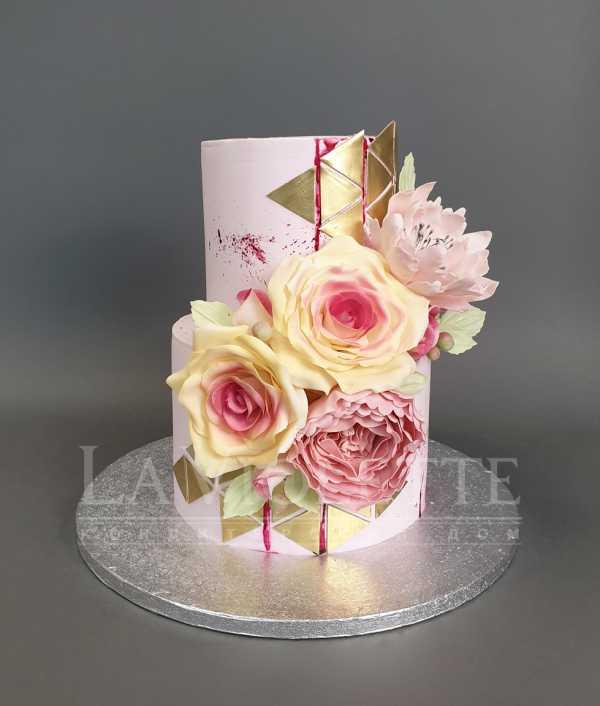 Торт с цветами №1059