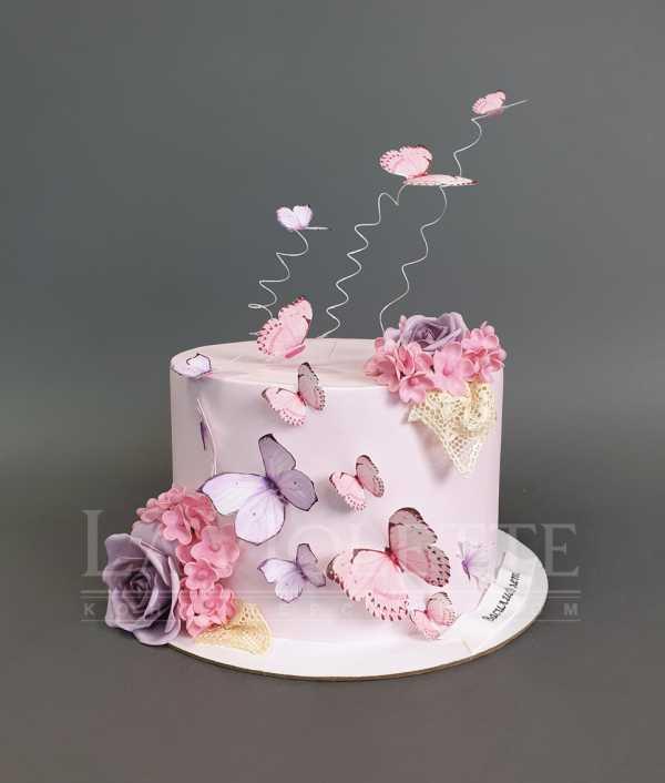Торт с бабочками №1060