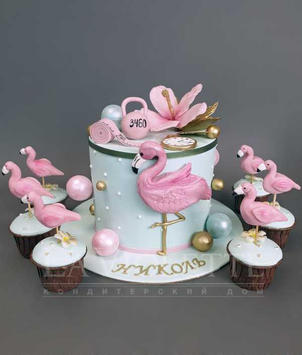 Торт с фламинго №1062