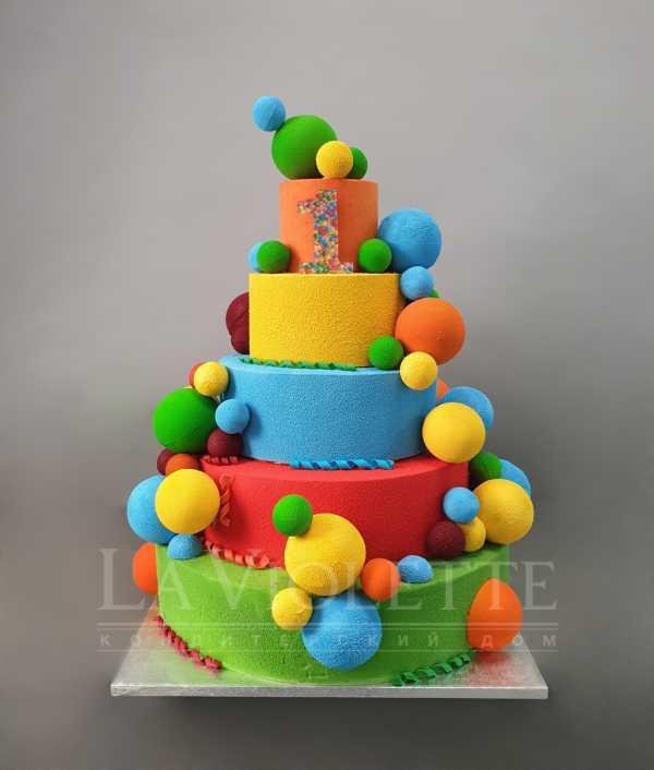 Торт с шарами №1081