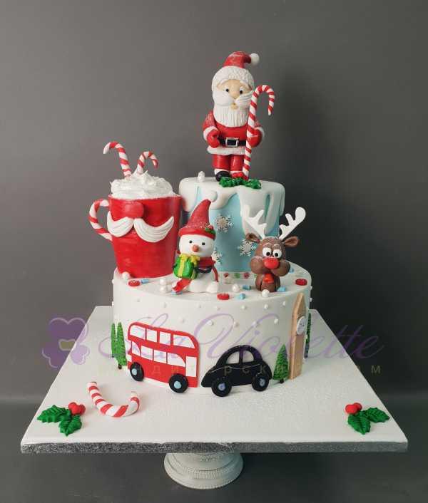 Торт с Санта Клаусом №1085