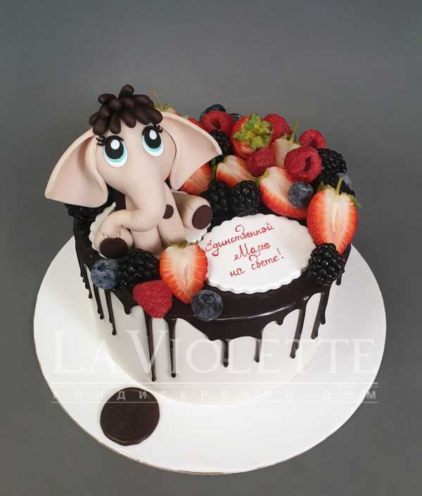 Торт с мамонтенком №1092