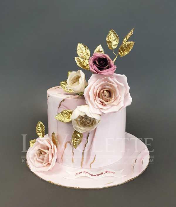 Торт с цветами №1097