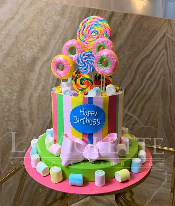 Торт с леденцами №1100