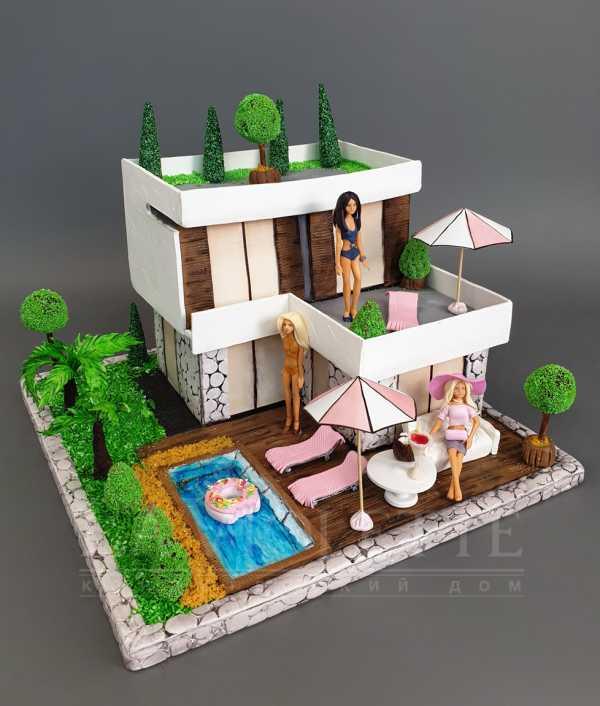 Торт Дом для барби №1104