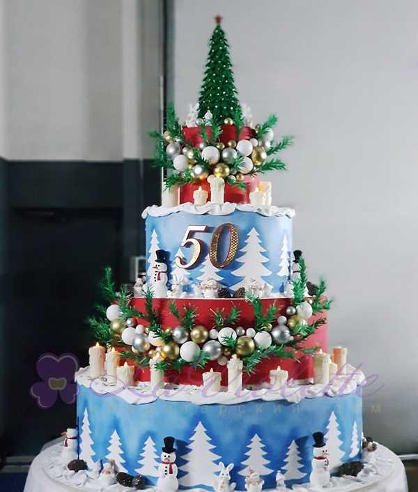 Новогодний торт на юбилей №1111
