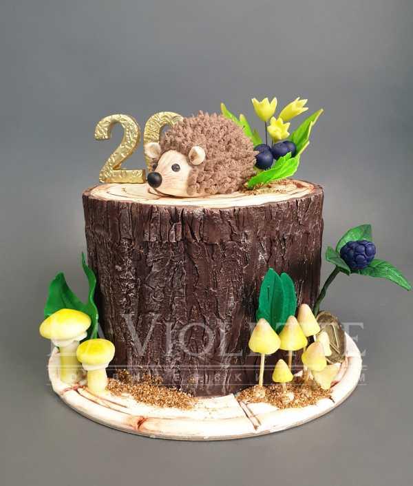 Торт с ежиком на пне №1118