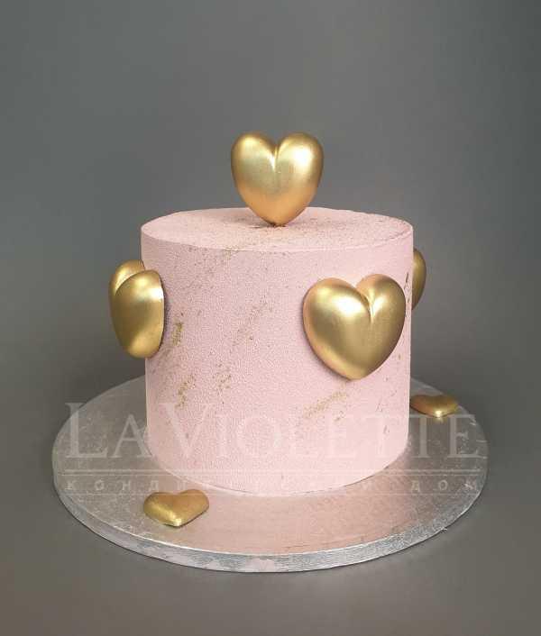 Торт с сердечками №1119