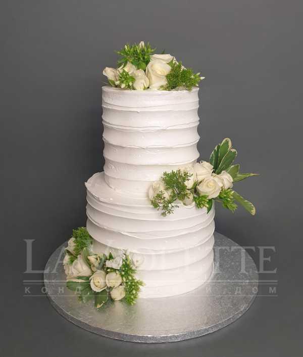 Торт с живыми цветами №1123