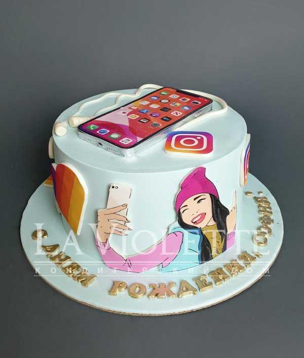 """Торт """"Социальные сети"""" №1124"""