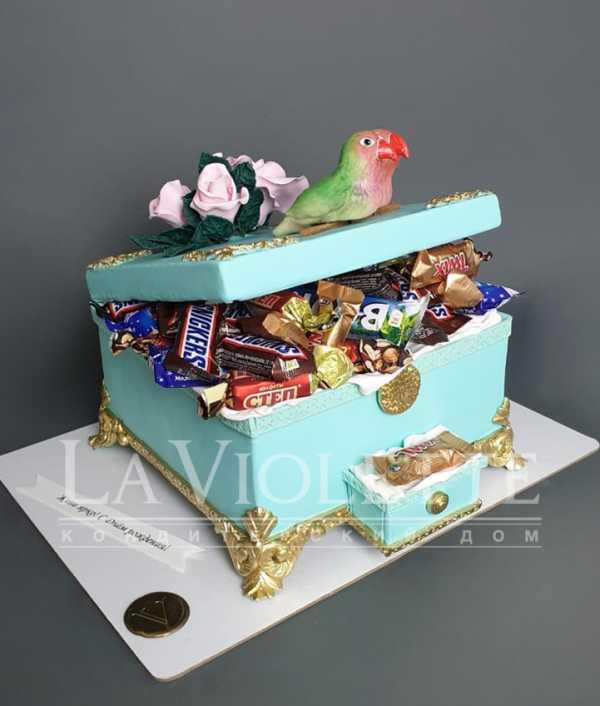 Торт Шкатулка с шоколадками №1130