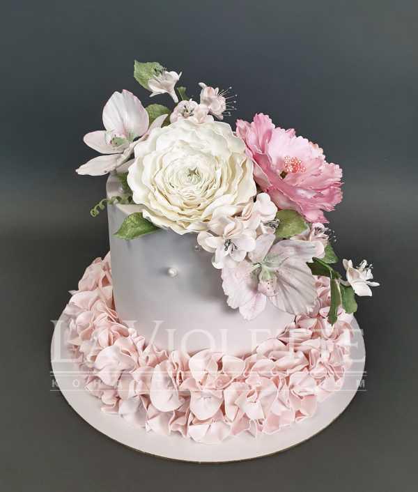 Торт с цветами №1131
