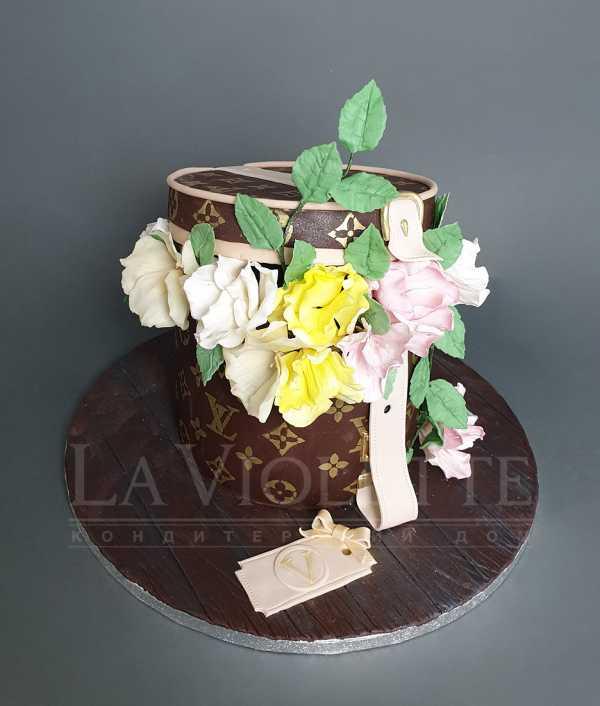 Торт Коробка с цветами №1134
