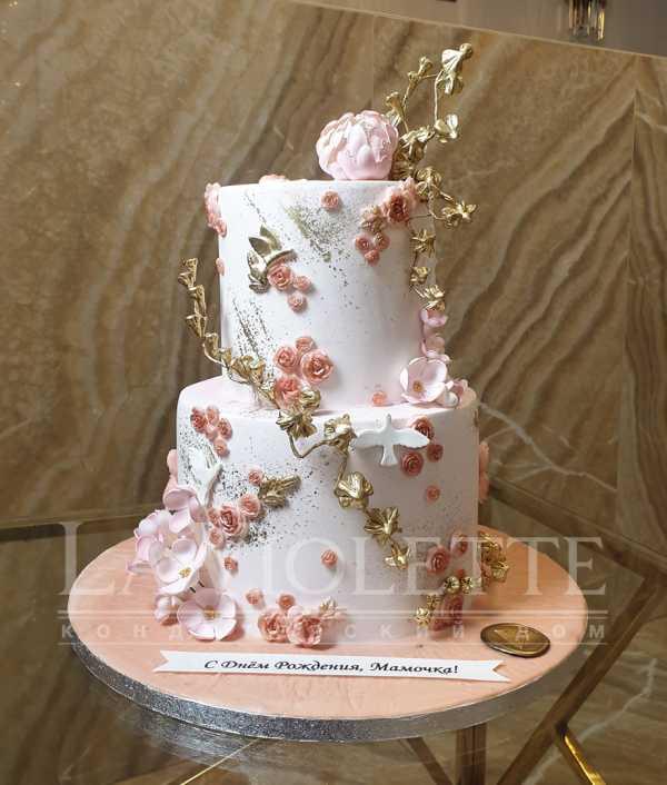 Торт с цветами №1136