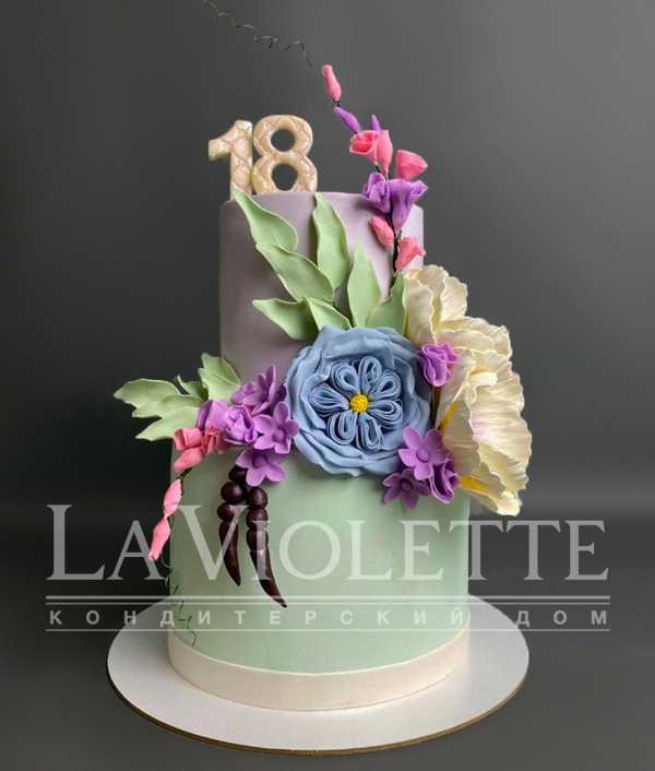 Торт с Цветами №1217