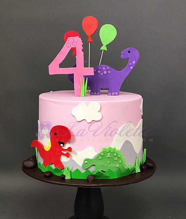 Торт с динозаврами №154