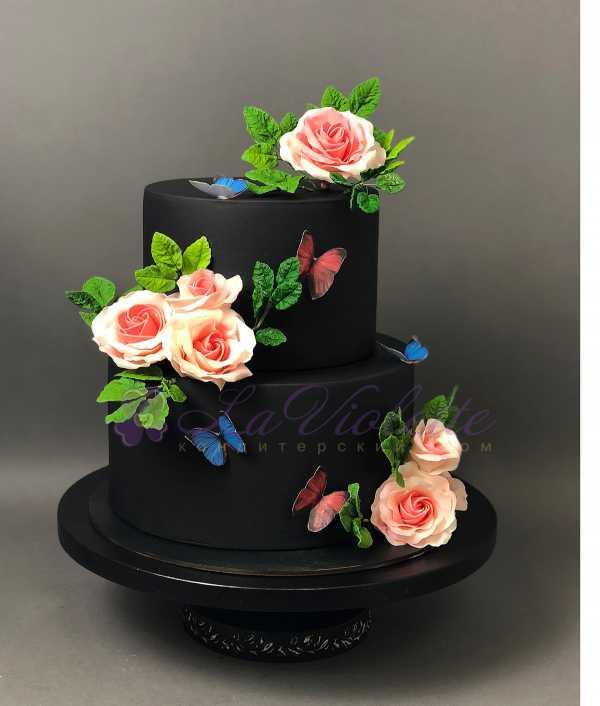 Торт с розами №115