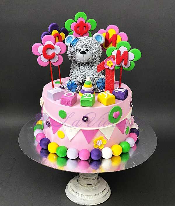 Торт с мишкой №156