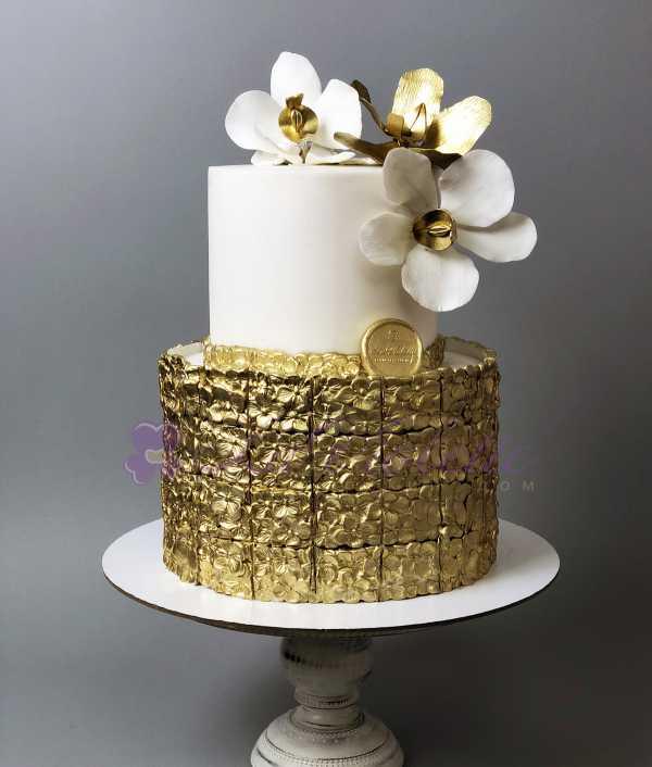 Торт с орхидеями №335