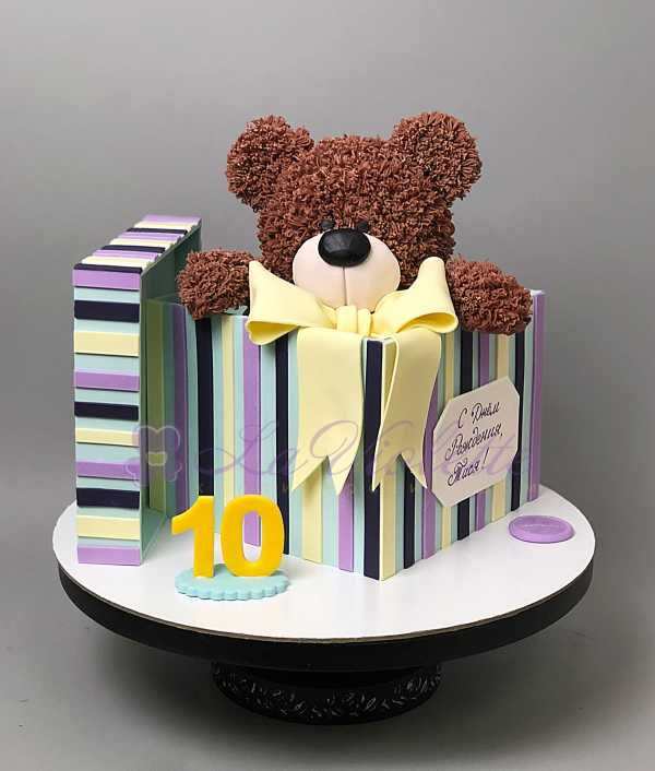Торт плюшевый мишка в коробке №342