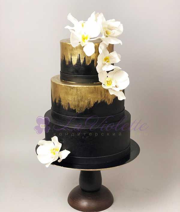 Торт с орхидеями №388