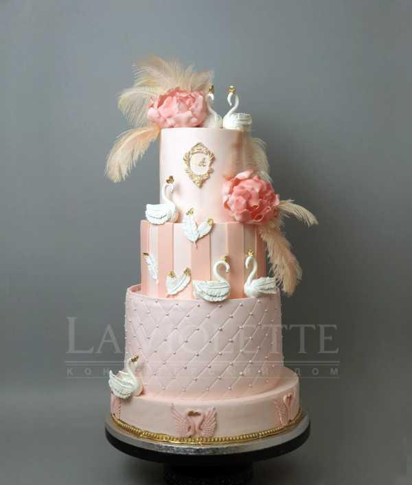 """Свадебный торт """"Лебеди"""" №457"""