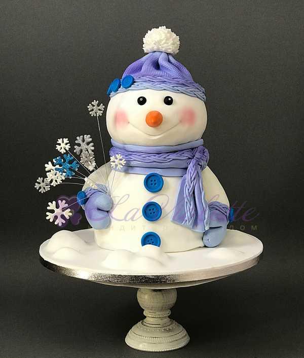 Зимний торт Снеговик №836