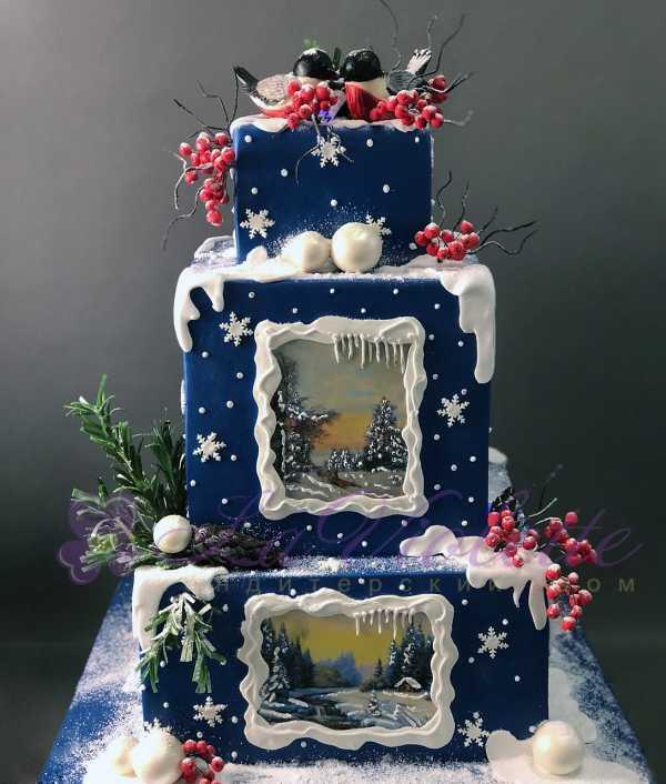 Торт зимний №863