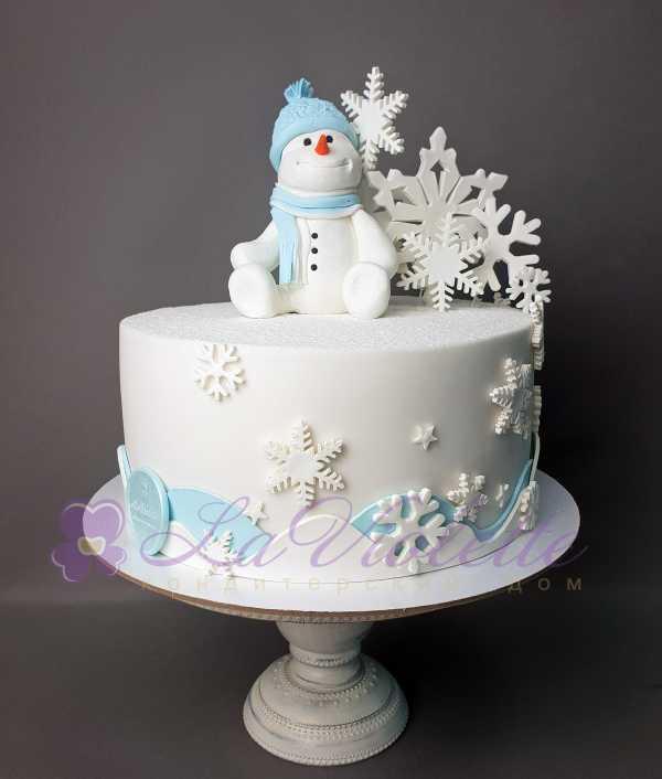 Торт снеговик №865