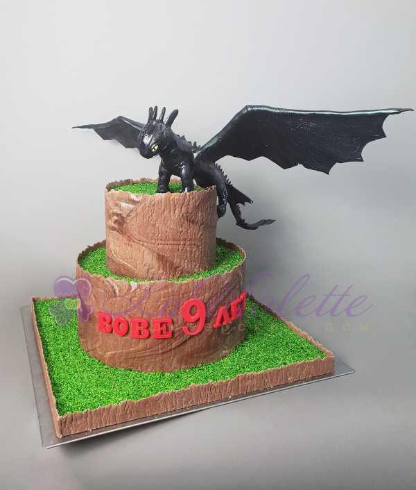 Торт дракон Беззубик №880