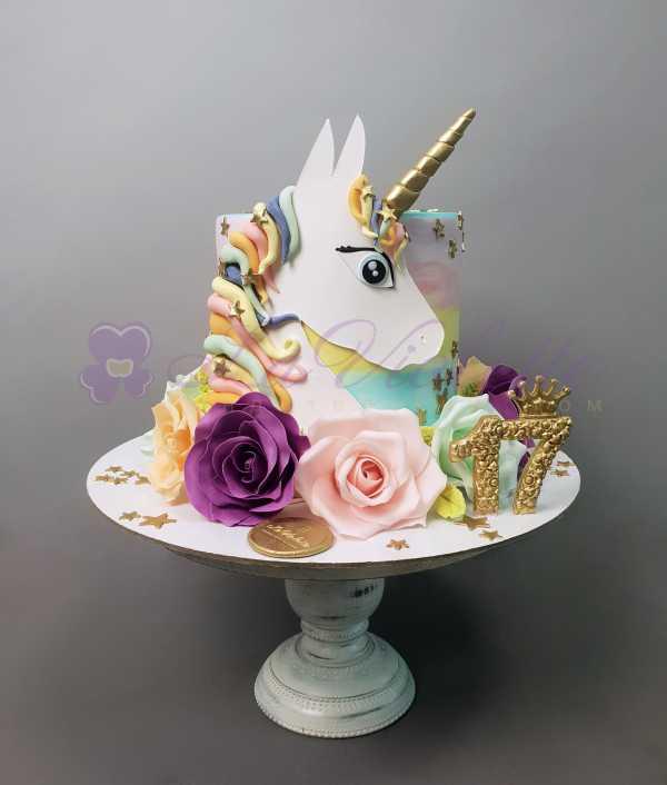 Торт с единорогом №888